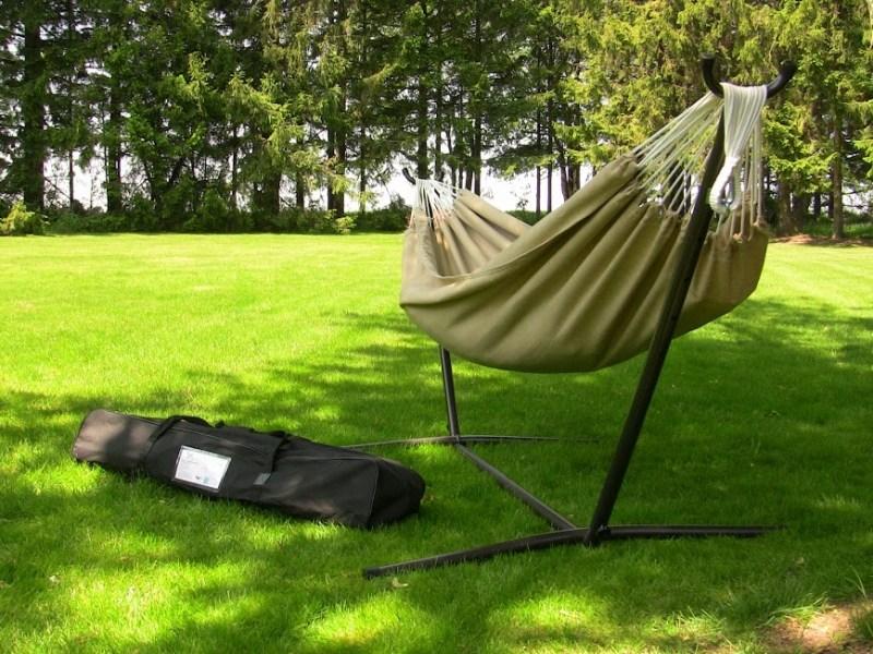 Hamak Sunbrella ze stojakiem metalowym 9f