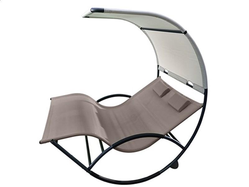 Dwuosobowy fotel bujany aluminium
