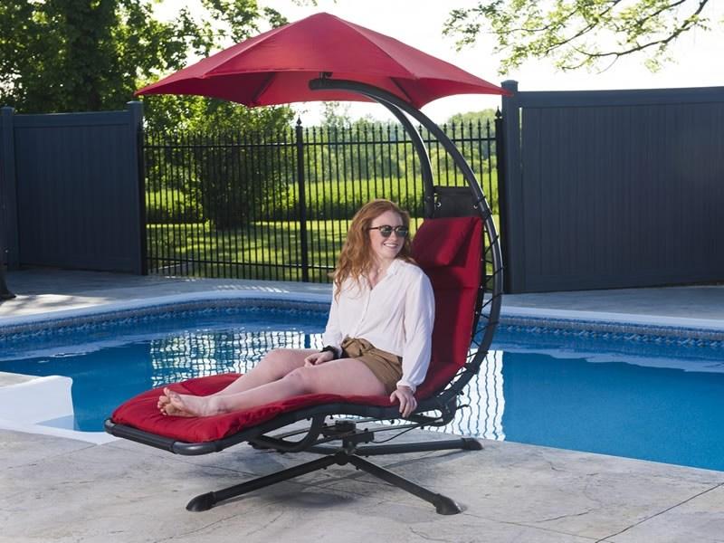 Obrotowy fotel ogrodowy