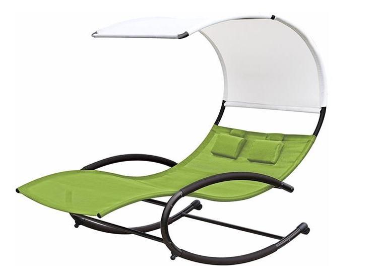 Dwuosobowy fotel bujany typu szezlong